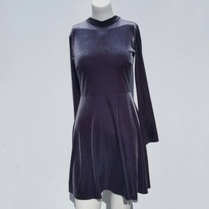 Topshop | Stretchy Gray Velour Dress size 4 grey